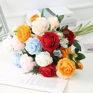 인공 모란 로즈 실크 꽃 웨딩 홈 장식 가짜 꽃 화병 꽃 휴일 장식 축제 파티 꽃 정렬 공급