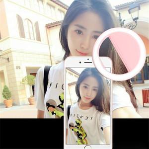 Téléphone Selfie Flash Led Lumière Réglable Mobile Téléphone Fill Light pour Mobile ipad pad ordinateur LED Clignotant Anneau Clip Téléphone Lentille