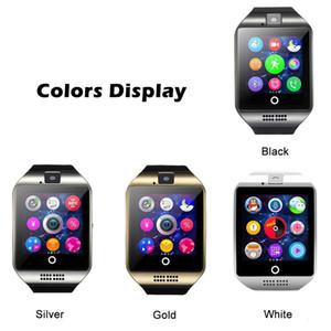 Q18 Bluetooth Smart Watch d'Wristband intelligent Montres TF carte SIM NFC avec le logiciel chat caméra pour IOS Android Cellphones avec le paquet
