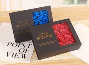 Валентина подарок 12PCS Мыло Роза цветок Jewelry Gift Box Love Forever ручной работа Искусственный цветок Soap Romantic девушка подарки