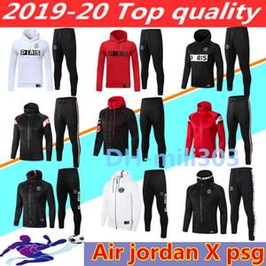 2019 2020 Jordam Х Париж футбол куртки костюм Survetement 18 19 20 ICARDI MBAPPE спортивной одежде воздух jordam футбол куртка с капюшоном костюм