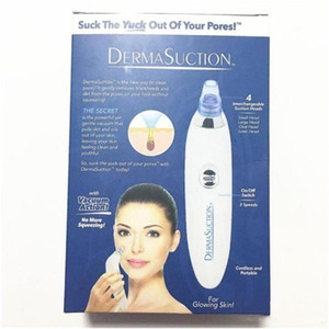 New DermaSuction Remover Facial Pore Cleaner Electric Pore Vacuum Extraction Blackhead Removal Rechargeable Skin Peeling Machine