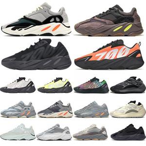 2019 700 Wave Runner Kanye West vague mauve statique Chaussures Hommes Femmes Noir Blanc Bleu Gris Sport Designer Athlétisme Sneaker