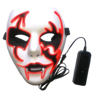 LED lumineux Purger masque masques effrayants Halloween Terror Atmosphère Prop Party Carnival Disguise Multi Couleurs Lumières de L1 pièce faciale