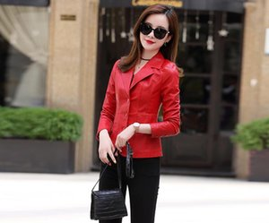 puFashion mother's leather coat women's single breasted Spring and Autumn wear 2020 new fashion show thin casual chic temperament blouse