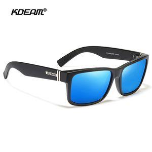 KDEAM polarizados Sport Sunglasses para homens Mulheres Proteção UV Quadratura Sol Óculos para Baseball Driving Correndo Pesca Golfe Y200415