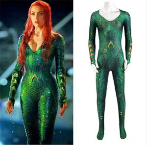Costume Aquaman Mera Amber Entendu Reine de la Mer Body Mera Justice League Super-héros DC Mascotte Halloween