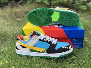2020 Authentic Ben &Jerry &#039 ;S X Sb Dunk Low Pro Qs Chunky Dunky Casual Shoes Men Lagoon Pulse Black University Gold Cu3244 -100 Shoes