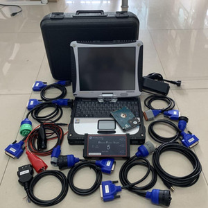 dpa5 usb diesel truck diagnostic scanner with laptop cf19 toughbook touch screen full set heavy duty 2 years warranty