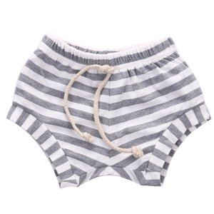 9M-4Years Newborn Baby bloomers Gray Pink Blue Black White Stripes Baby Girls Shorts Summer Trousers PP Pants 0-4T