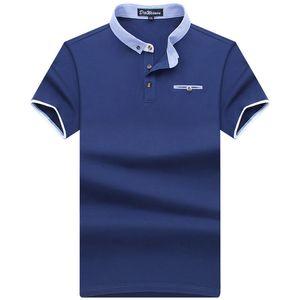 2019 الرجال الصيف العلامة التجارية قميص الصورة يقصر رجل كم قميص السببية النمط الكلاسيكي للرجال بولو الجديدة