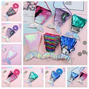 Brand new paillettes portamonete bambino messenger Bag creativo fishtail Mini Sacchetto favore di Partito Del Fumetto Regali per bambini T2D5016