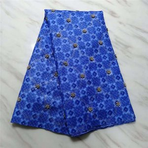 Nice Bazin Riche Getzner 2020 Blue Tissu Basin Getzner With Beads And Stones High Quality African Bazin brocade Fabric For Dress