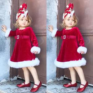 Toddler Baby Girls Kids Christmas Costume Princess Dress Xmas Santa Tutu Dresses