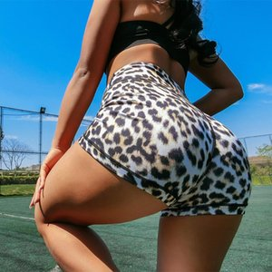Exercise Clothing for Women Leopard Grain Yoga Pants Shorts Leisure High Waist and Buttock Sexy