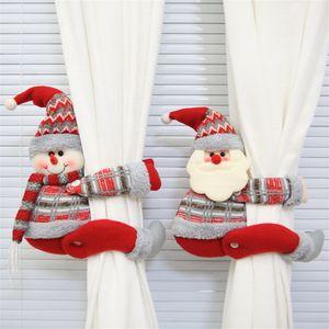 Clips rideau Boucle de Noël Cartoon rideau Embrasse Moustiquaires Hook Buckles Accueil Decors Fenêtre de Noël Décorations JK1910