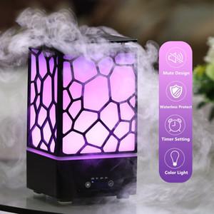 Household Beautiful Water Cube Maker Mist Belas Fogger Grande Névoa essenciais Oil Difusor Luzes LED umidificador de ar ultra
