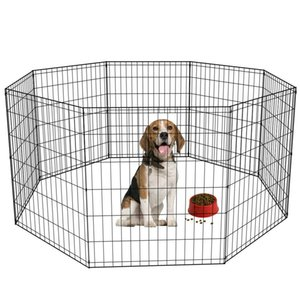 30 Tall Dog Playpen Crate Fence Pet Play Pen Exercise Cage -8 Panel