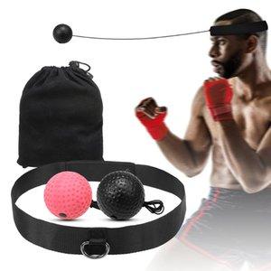 Outdoor-Box Reflex Ball Set 2 Ebene Stanzen Trainingsbälle mit Nylon Sport Stirnband