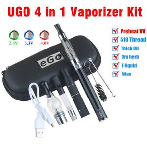 eVod 4 in 1 vaporizzatore olio kit serbatoio vape asciutto erba tamponare penna kit kit Ugo avviamento cera vapes starter kit evod all'ingrosso