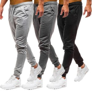 Men's Gym Fitness Joggers Pants Sweatpants Running Casual Loose Solid color tethered men's trousers