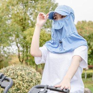 2020 new Women Shawl Sunshade Hat Polyester Attachment Headwear Neck Shawl Mountaineering Cycling Anti UV Hat