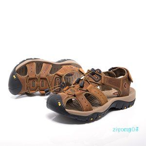 New Male Shoes Genuine Leather Men Sandals Summer Men Big Size 48 Beach Sandals Man Fashion Outdoor Casual Sneakers z07