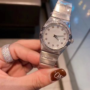 Limited Edition Марка Кварцевые часы 28мм Женщины Созвездие серебристый корпус белый циферблат из нержавеющей Группа Женский Часы MONTRE Homme