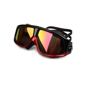 Adults Swimming goggles Anti-Fog UV Men Women Large frame Sport Glasses Waterproof swim eyewear Silicone Swimming glasses