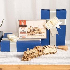 Robotime روكر 6 أنواع DIY الليزر قطع الميكانيكية نموذج خشبي بناء نموذج الجمعية أطقم لعبة هدية للأطفال الكبار CX200612