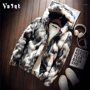 2019 men's personality and wool imitation mink imitation leather jacket Youth camouflage fur coat1