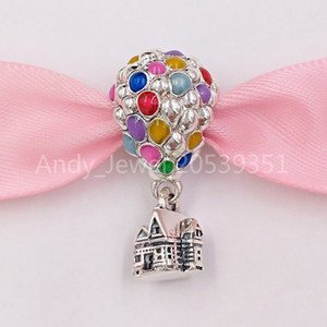 Authentic 925 cuentas de plata esterlina DSN UP CASA Globos Charm Charms Fits European Pandora Style Jewelry Bracelets Collar 798962C