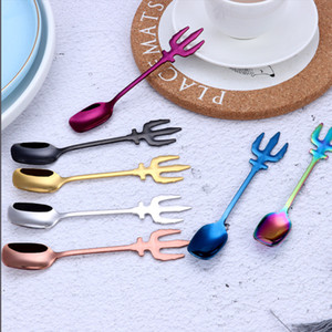 스테인레스 스틸 디저트 스푼 커피 스푼 다기능 스푼 주방 악세사리 Flatware 과일 포크 커피 Stirring Spoons