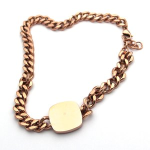2020 оптовых моды мужские и женские браслеты квадратный двухсторонний буквенных браслетов из нержавеющей стали ювелирных изделий бренда браслеты L