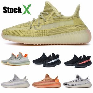 New Baby Shoes Kanye West V2 Running Shoes Reflective Sneakers Clay Boy Girl Toddler Trainer Sneaker Zebra Black Grey Red #DSF454