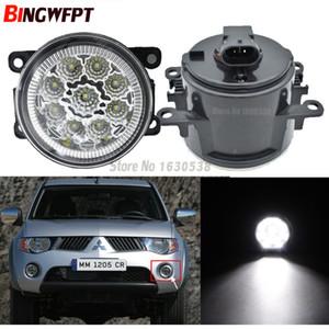 2pcs / paire Car Styling ronde Pare-chocs Les lampes halogènes 55W Pour Mitsubishi Triton L200 LED Phares antibrouillard H11