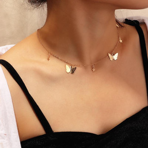 Pingente de colar de Moda 2020 New Charme Boho da estrela da borboleta Collar gargantilhas colares Bohemian Praia Pescoço Acessórios cadeia de jóias