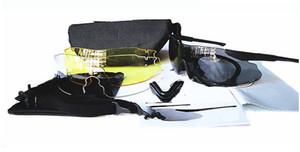 hommes, lunettes militaires, 3 lunettes Lens RX Inserts Army, branches télescopiques Pliable Earwires Ballistic Eyeshields