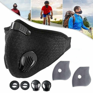 Hot Vendre Sport Face Mask Avec filtre PM 2.5 Activated Carbon Anti-Pollution respiration Valve Courir Formation vélo Masques de protection FY9075