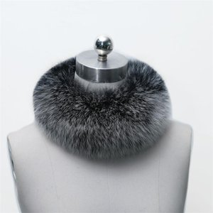 Hot Sale Real Fur Scarf Women Headband Scarves Neck Warmer Natural Fur Wrap Cape Shawl Poncho Snood Winter Warm Magnet