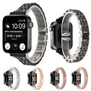 Sostituzione della cinghia dell'acciaio inossidabile per Mi intelligente Diamond Watch fascia di metallo cinturino Per Xiaomi orologio con adattatore del connettore di trasporto