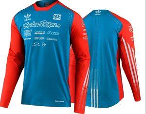 New TLD comércio exterior umidade wicking camisa esportes ao ar livre respirável off-road moto de corrida equitação terno T-shirt personalizada