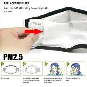 Anti Toz damlacıkları Değiştirilebilir Maskesi Filtresi takın Maske Kağıt Haze Ağız PM2.5 Koruyucu 5 katmanlı karbon Pad Aktif Filtreli Filtreler