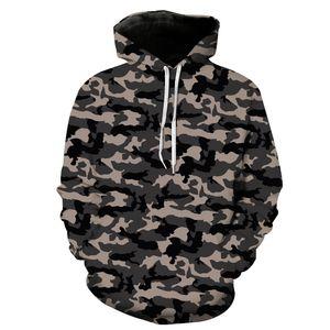 Mens Designer Hoodie Herbst Winter Camouflage Digitaldruck Casual Sport Hoodie für Young Fashion Hipster Hoodies