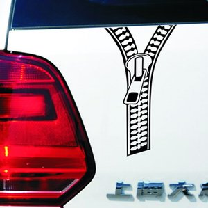 Car styling creative zipper car stickers music decals for motorcycle automobile