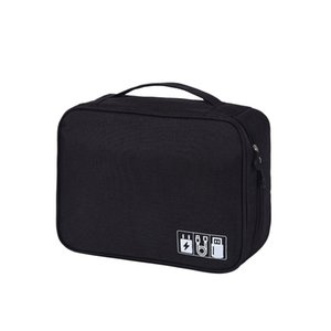 Travel Cable Organizer Bag Electronics Accessories Storage Pouch USB Drive Charger Power Bank Memory Card Case