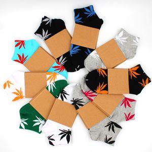 Hommes Femmes Chaussettes de cheville Print des feuilles Unisexe Coton Skateboard bateau chaussette