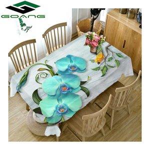 Tovaglia GOANG impermeabile antipolvere Addensare tovaglia rettangolare e rotonda stampa digitale 3d magnolia fiore tessili per la casa