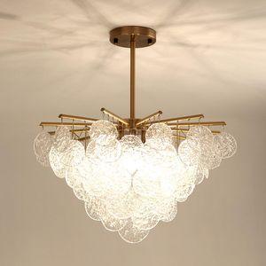 Кристалл лампы Простой творческой личности Обеденный стол Столовая лампа Nordic постмодерна Glass Flower Light Luxury Люстра