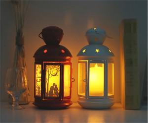 Avrupa fener küçük fener asılı süsler uzak LED mum lamba yaratıcı ev dekorasyonu kravat Yi DIY manuel malzemeler pa kontrol